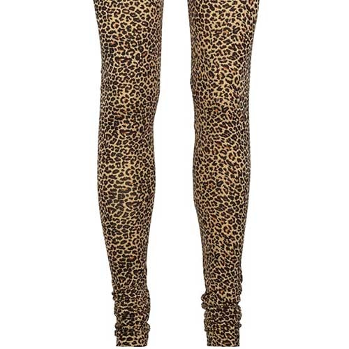 MarMar Copenhagen Woman Leo Leg W Leopard Pants Brown Leo (Legging)-4