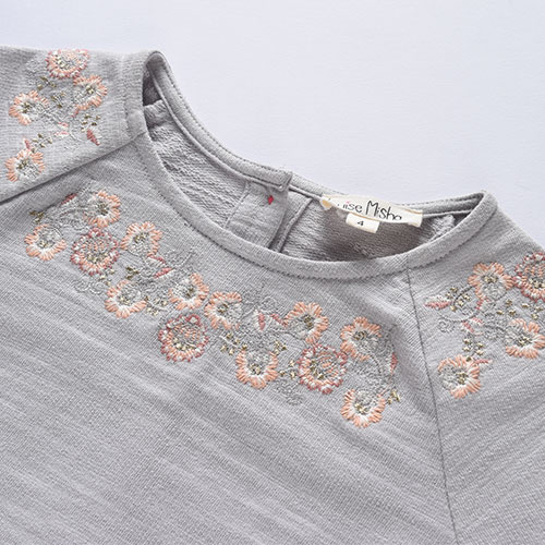 Louise Misha Sweat Top Sujan Grey-5