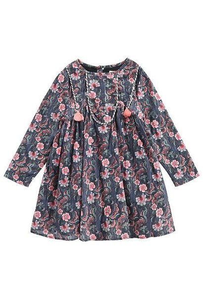 Louise Misha Dress Roulotta Storm Flowers (Jurk)