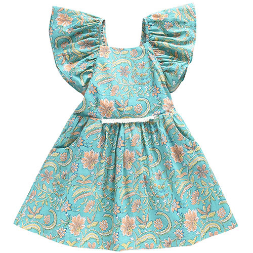 Louise Misha Dress Minaksi Bloom Flower (Jurk)-1