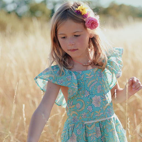 Louise Misha Dress Minaksi Bloom Flower (Jurk)-2
