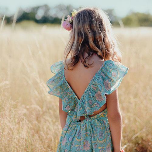 Louise Misha Dress Minaksi Bloom Flower (Jurk)-4