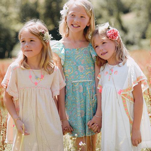 Louise Misha Dress Minaksi Bloom Flower (Jurk)-3