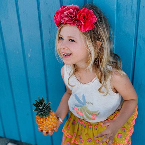 Louise Misha Skirt Litchi Safran Flowers (Rok)-2