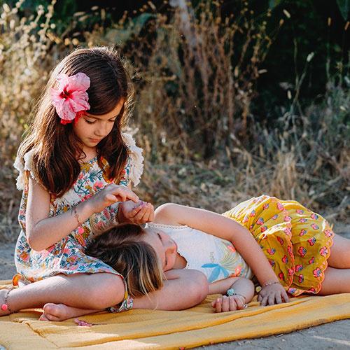 Louise Misha Skirt Litchi Safran Flowers (Rok)-3