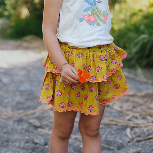 Louise Misha Skirt Litchi Safran Flowers (Rok)-4