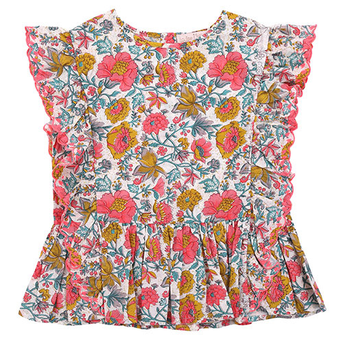 Louise Misha Top Figaria Multi Flowers (Shirt)-1