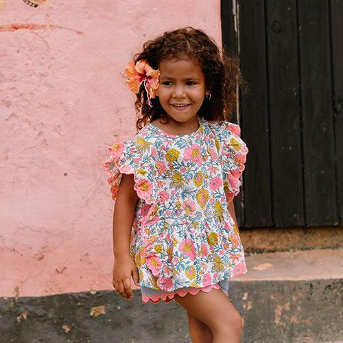 Louise Misha Top Figaria Multi Flowers (Shirt)-2