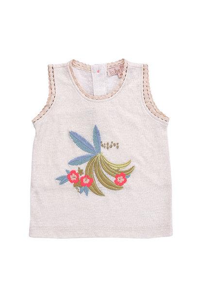 Louise Misha Marcel Banana White Tank Top (Shirt)