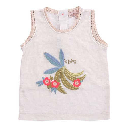 Louise Misha Marcel Banana White Tank Top (Shirt)-1