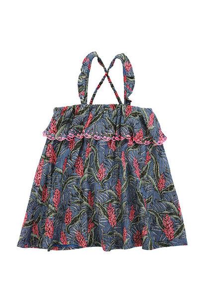 Louise Misha Dress Pama Lagoon Leaves (Jurk)