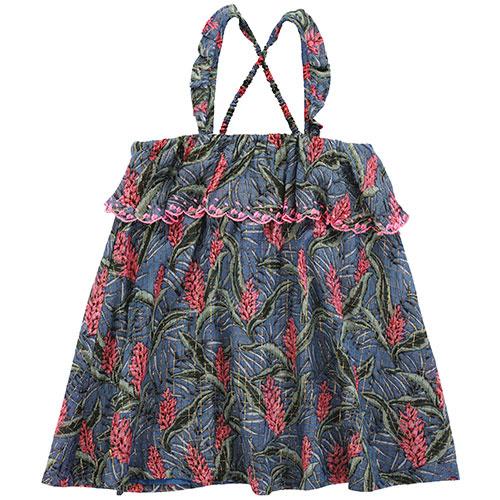 Louise Misha Dress Pama Lagoon Leaves (Jurk)-1
