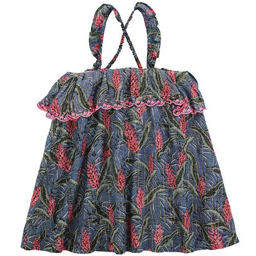 Louise Misha Dress Pama Lagoon Leaves (Jurk)-6