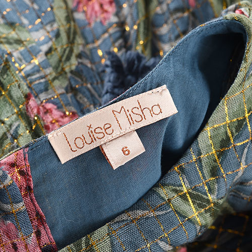Louise Misha Dress Costa Lagoon Leaves (Jurk)-4