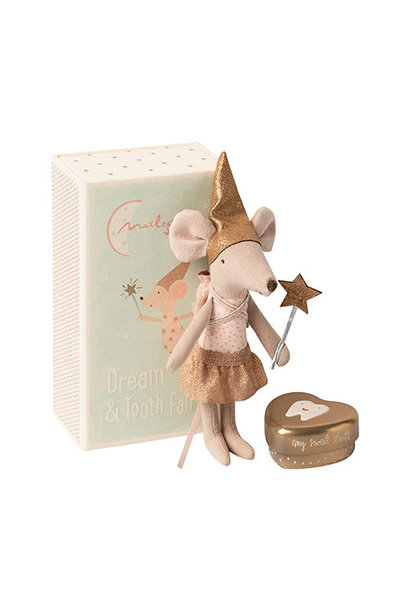 Maileg Tooth fairy mouse in matchbox, Big sister (muis)