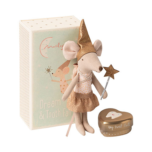 Maileg Tooth fairy mouse in matchbox, Big sister (muis)-1