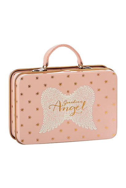 Maileg Metal Suitcase, Rose, Gold dots (speelgoed koffertje)