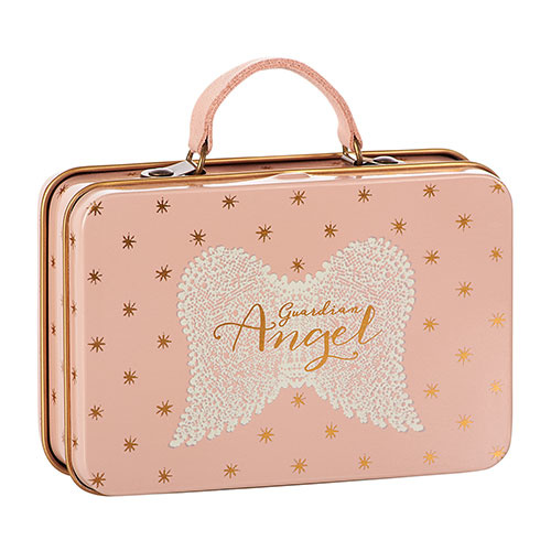 Maileg Metal Suitcase, Rose, Gold dots (speelgoed koffertje)-1