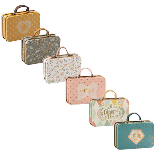 Maileg Metal Suitcase, Rose, Gold dots (speelgoed koffertje)-2