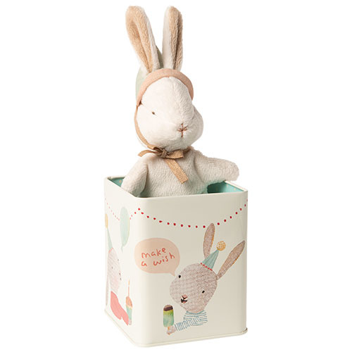 Maileg Happy day bunny in box, Small (konijn)-1
