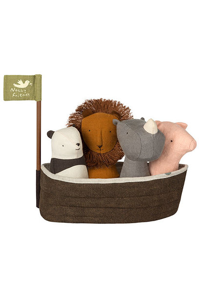 Maileg Noah`s Ark with 4 rattles (set mini rammelaars)