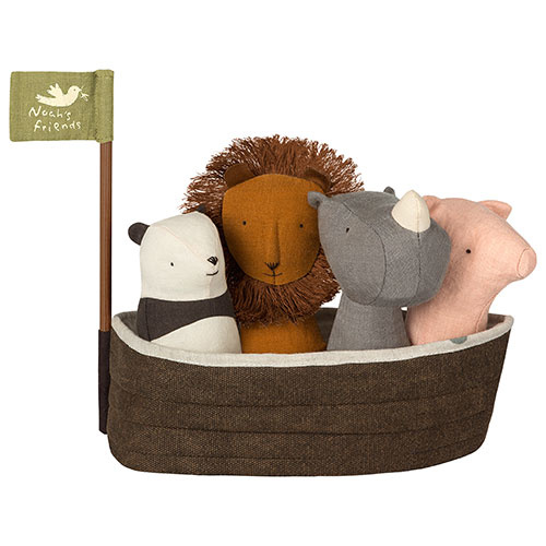 Maileg Noah`s Ark with 4 rattles (set mini rammelaars)-1