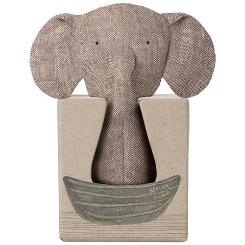 Maileg Noah's Friends, Elephant Rattle (rammelaar olifant)-2