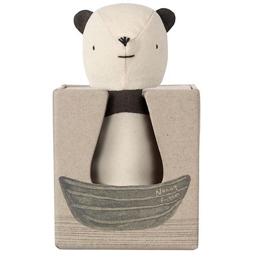 Maileg Noah's Friends, Panda Rattle (rammelaar pandabeer)-2