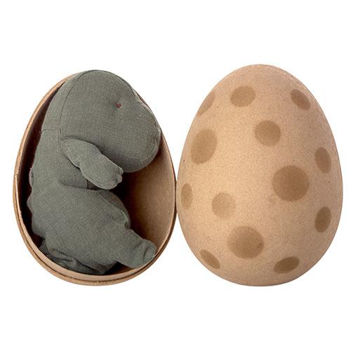 Maileg Gantosaurus in egg, Small - Green (dino ei)-4