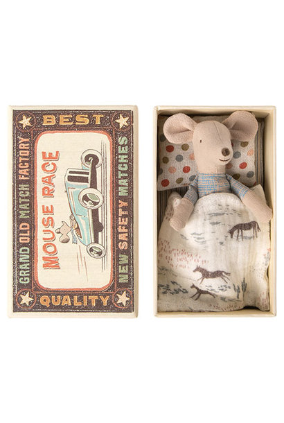 Maileg Little brother mouse in matchbox (muis)