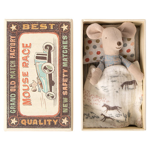Maileg Little brother mouse in matchbox (muis)-1