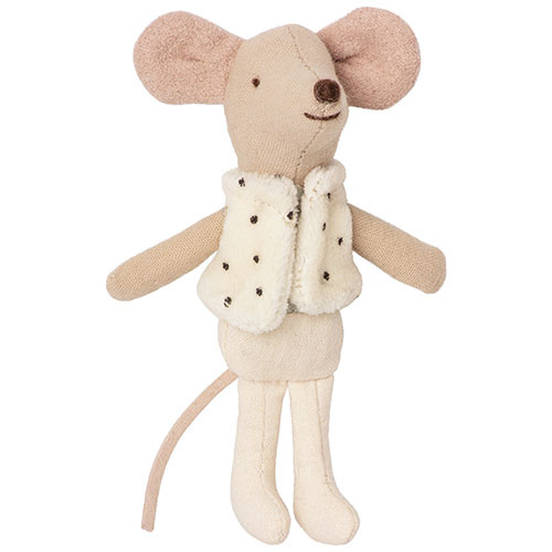Maileg Dancer in matchbox, Little brother mouse (muis)-2