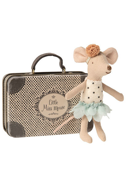 Maileg Little Miss Mouse in suitcase, Little sister (muis)