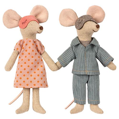 Maileg Mum & dad mice in cigar box (muis)-2