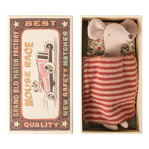 Maileg Big sister mouse in matchbox (muis)-1