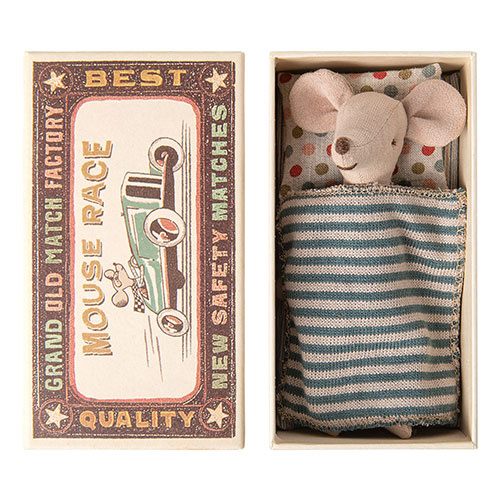 Maileg Big brother mouse in matchbox (muis)-1