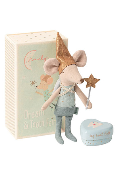 Maileg Mouse, Tooth Fairy, Boy, w. metal heart (muis)