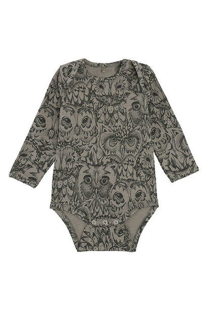 Soft Gallery Bob Body Vetiver AOP Owl Vetiver (Romper)