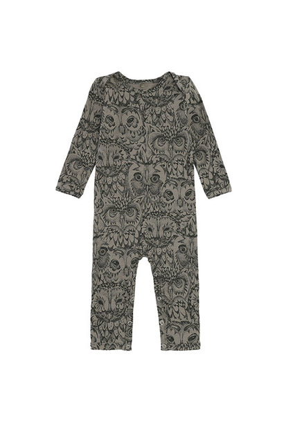 Soft Gallery Ben Bodysuit Vetiver AOP Owl Vetiver (Romper)