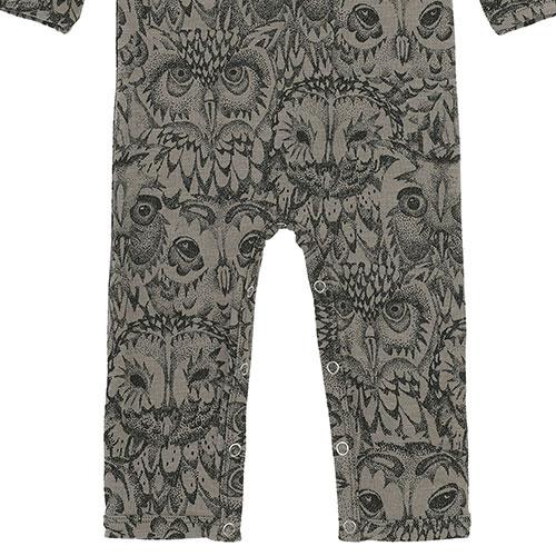 Soft Gallery Ben Bodysuit Vetiver AOP Owl Vetiver (Romper)-3