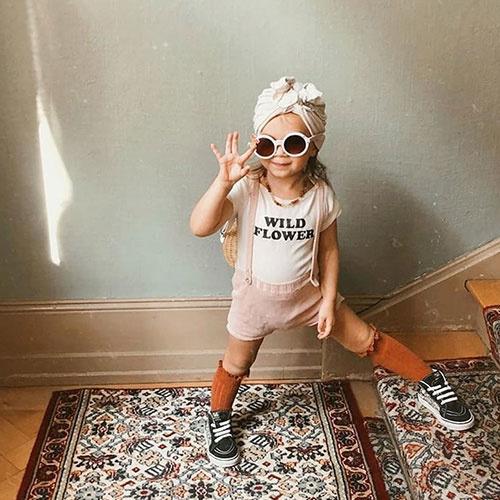 Grech & Co Sustainable Kids Sunglasses Buff (Zonnebril)-2