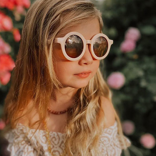 Grech & Co Sustainable Kids Sunglasses Shell (Zonnebril)-2