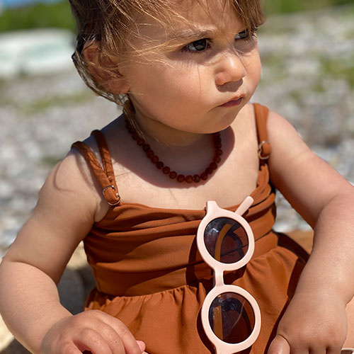 Grech & Co Sustainable Kids Sunglasses Shell (Zonnebril)-3