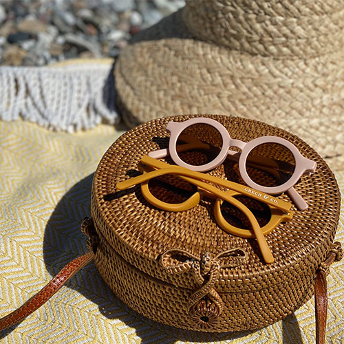 Grech & Co Sustainable Kids Sunglasses Shell (Zonnebril)-5