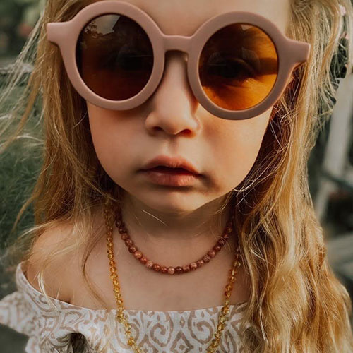 Grech & Co Sustainable Kids Sunglasses Burlwood (Zonnebril)-2