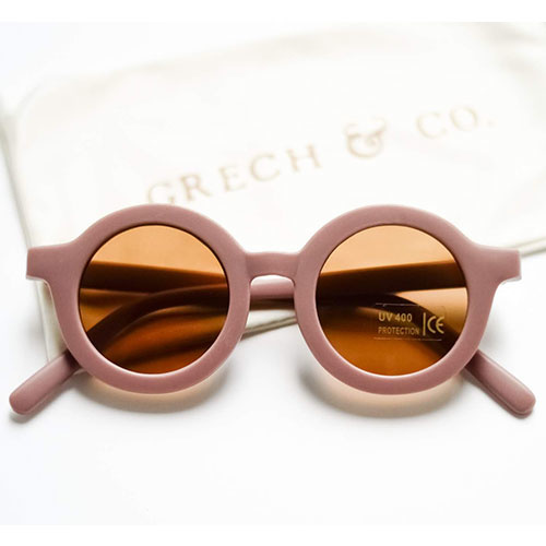Grech & Co Sustainable Kids Sunglasses Burlwood (Zonnebril)-1