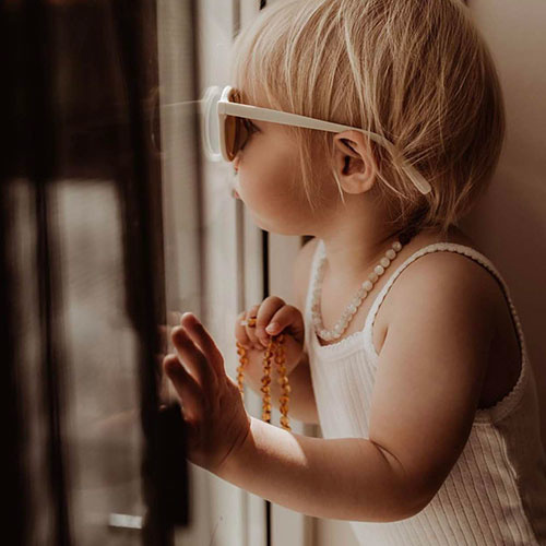 Grech & Co Sustainable Kids Sunglasses Buff (Zonnebril)-5