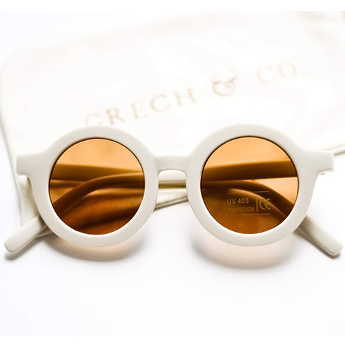 Grech & Co Sustainable Kids Sunglasses Buff (Zonnebril)-1