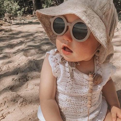 Grech & Co Sustainable Kids Sunglasses Stone (Zonnebril)-3