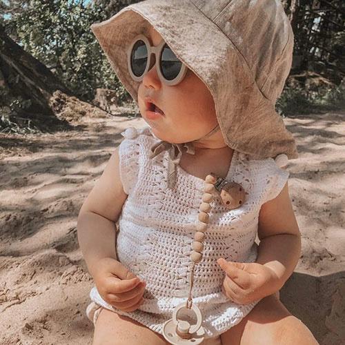 Grech & Co Sustainable Kids Sunglasses Stone (Zonnebril)-5